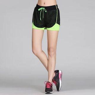 🚚 運動短褲(綠)