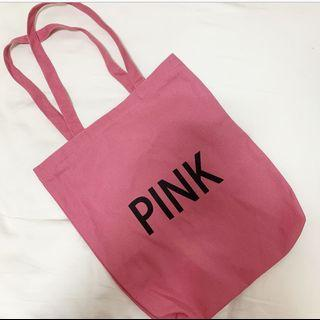 🚚 pink tote bag