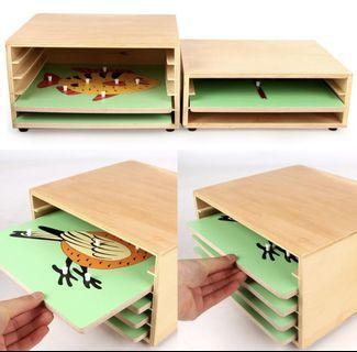 🚚 Montessori wooden puzzle and organiser cabinet