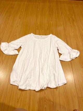 🚚 竹節棉上衣白色