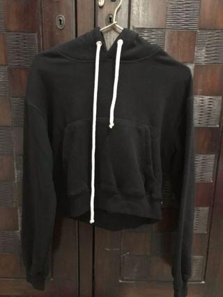 H&M Crop Hoodie Black