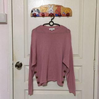Pink Tweeted Pullover