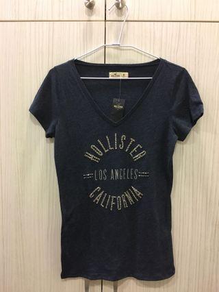 🚚 全新-Hollister深藍色短袖上衣