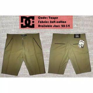 Shortpants DC Taupe chino surfing skate distro premium