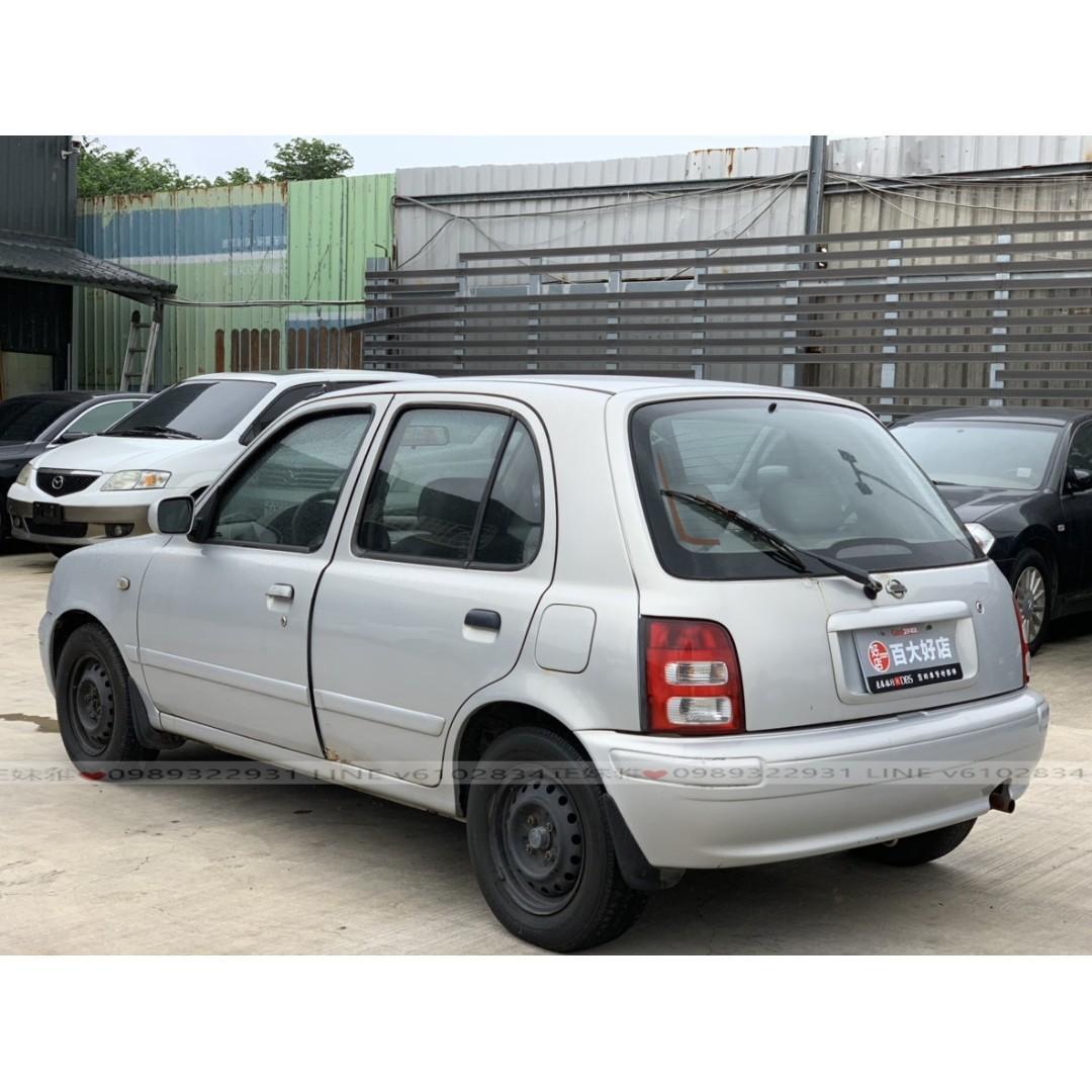 日產2003年MARCH-銀色1.3都會小車,耐操耐用冷氣還很涼毆!!!