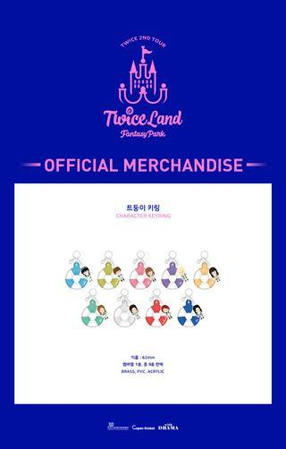 [PREORDER] TWICE OFFICIAL FANTASY PARK MD CHARACTER KEYRING