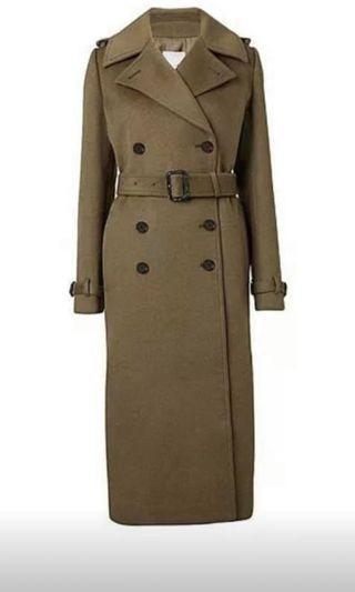 Witchery khaki coat size 8