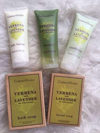 Crabtree&Evelyn travel toiletries
