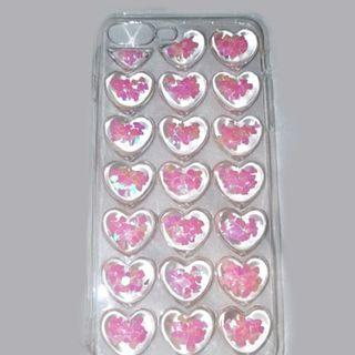 3d glitter heart iphone case
