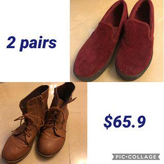 2 pairs of shoes size 39