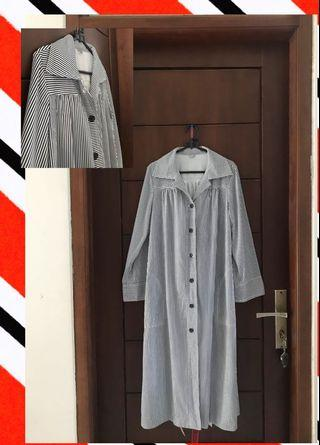 mini dress / tunik panjang motif salur