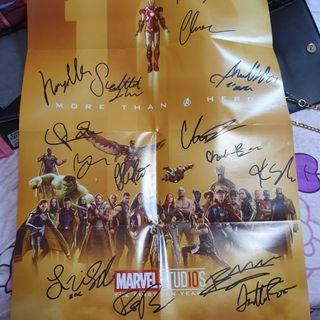 Signed Avengers Marvel Studios The First Ten Years Poster