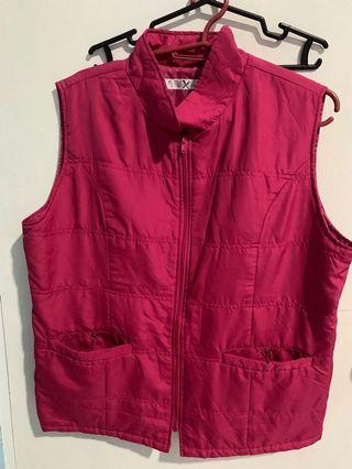 Pink winter vest