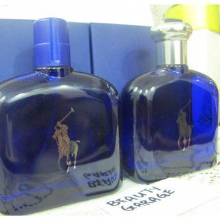 CLEARANCE ! POLO RALPH LAUREN BLUE FOR MEN 125ml EDT MEN PERFUME TESTER !