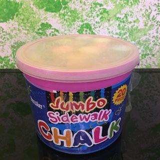 Jumbo Sidewalk Chalk 粗 粉筆 free play