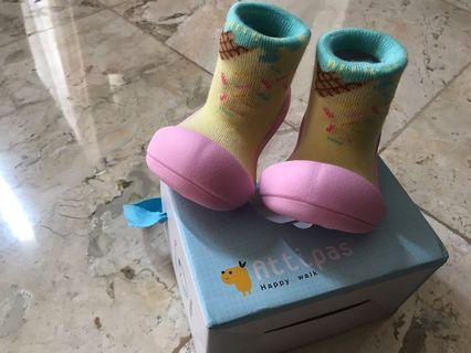 Attipas Ice Cream Pink Prewalker sepatu bayi baby karet