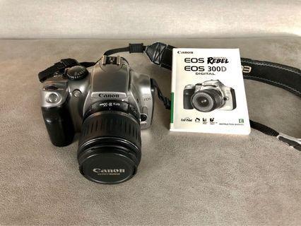 數位單眼 Canon 300D (含 EFS18-55mm,原廠電池)