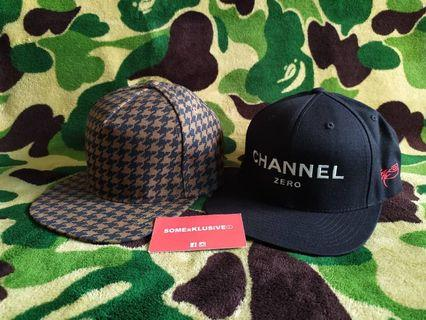 SSUR Channel Zero Snapback cap (replacement strap) FREE I another x UT cap