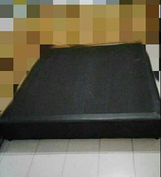 Black Leather Bed Divan