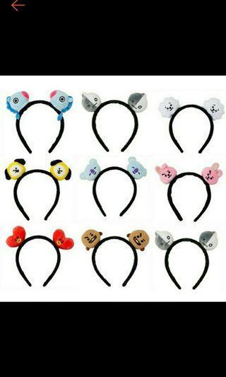 Preorder BT21 headband