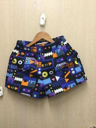 Fun neon print shorts