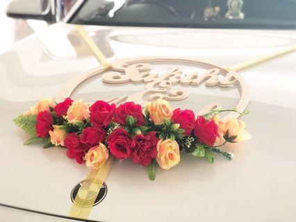 [KarftWerks EXQUISITE Package] Wedding/Bridal Car Flower Decoration ~ Wedding/Bridal Car Flower Deco