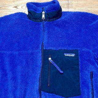 美國製 藍紫色 Patagonia Retro-x jacket fleece 保暖 輕量 防風 刷毛 絨毛 外套