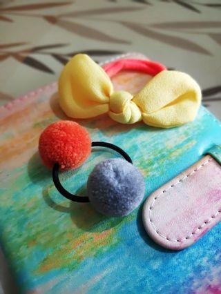 Paket Ikat Rambut Lucu (Pom-pom & Pita) #maugopay