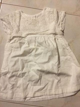 The little white company white baby girl dress