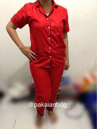 Piyama / baju tidur katun embos LD 105cm