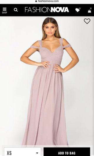 Mauve long dress
