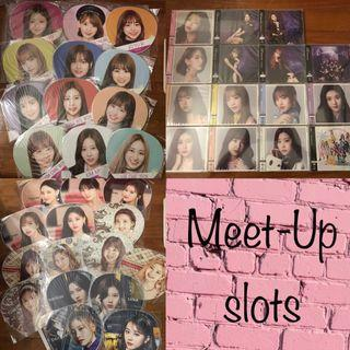 Meet-up Schedule (Week of 8/7) Twice Iz*one Image Pickets and Albums