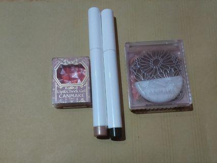 Blp Beauty eyeshadow pen Canmake Blush on