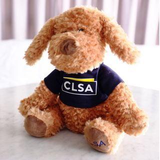 New CLSA Plush Poodle, 28cm, Brown plushie, soft toy