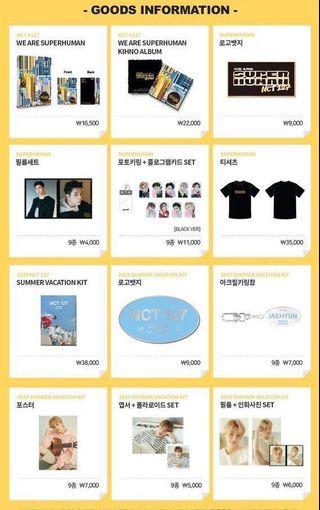 [PREORDER] NCT 127 SUPERHUMAN SUMMER VACATION OFFICIAL POP UP STORE GOODS
