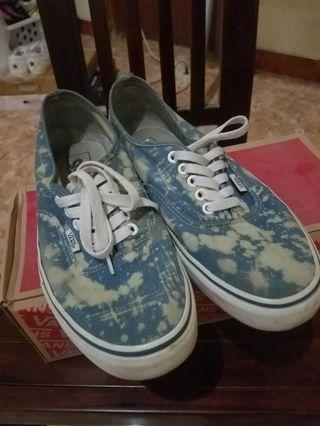Vans authentic blue navy paint acid original sz 43