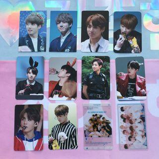 BTS Jungkook & Wanna One Group Fansite Photocards