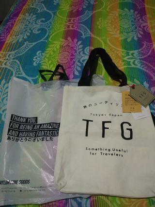 TFG TOTEBAG WHITE (NEW WITH TAG)