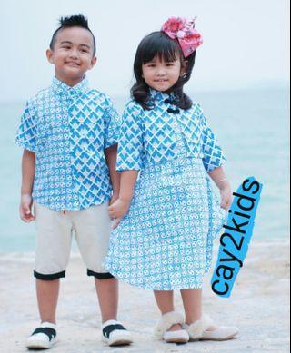 Couple Batik Kids Blue Colour