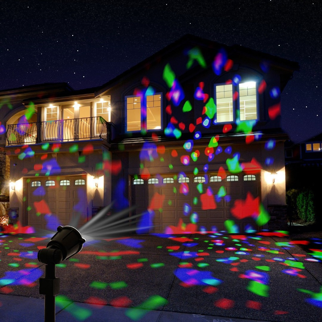 Christmas Projector Lights.595 Led Projector Lights Outdoor Greenclick Christmas Projector Light With Rotating Snowflake Snowfall Remote Timer 4 Modes Waterproof Landscape