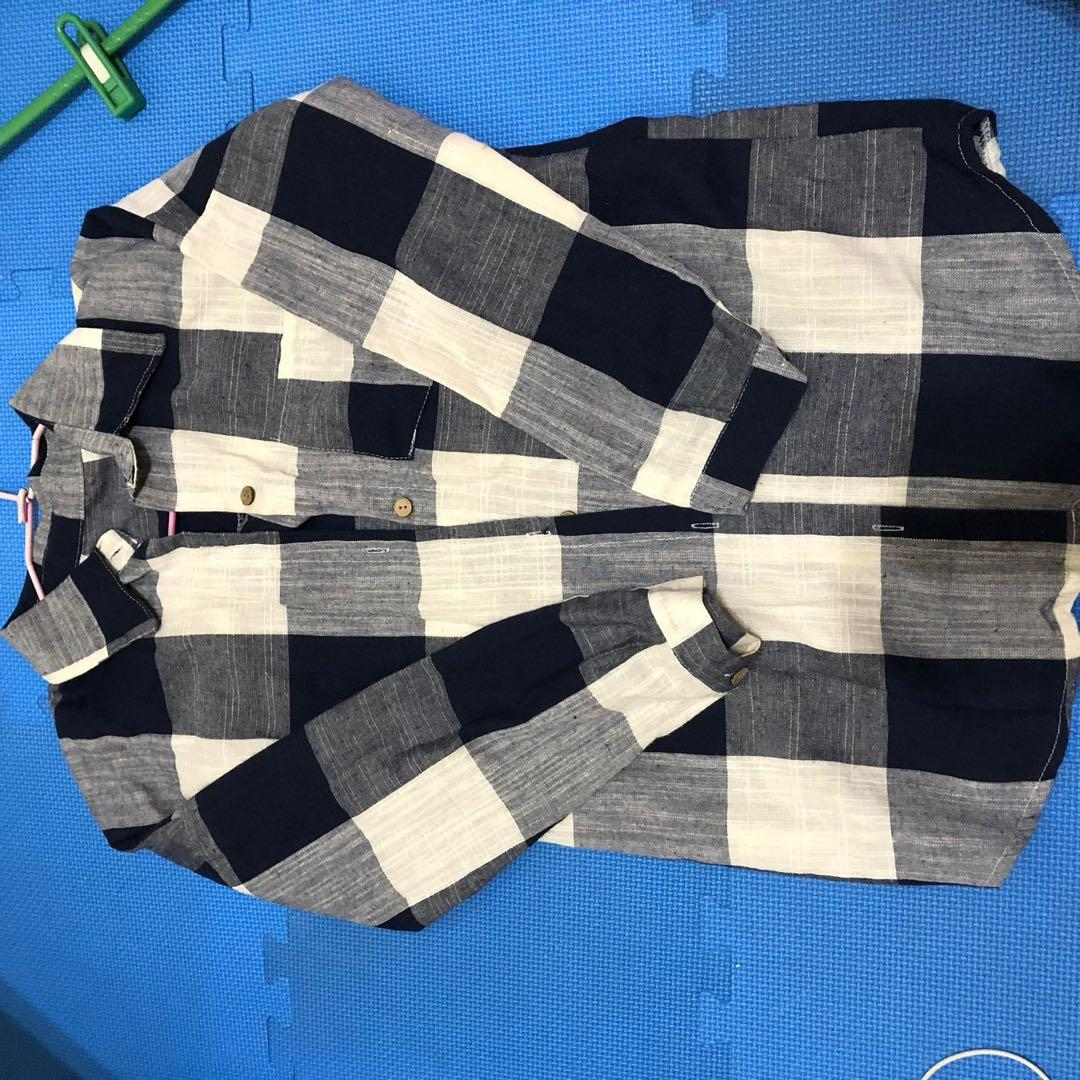 格子襯衫外套