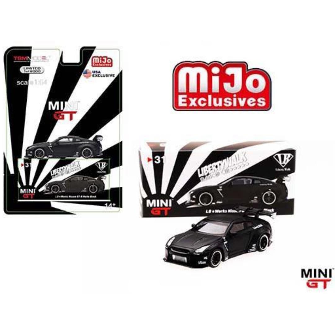 預訂美國限定 Mini GT 1:64 GTR R35 LBW Liberty Walk