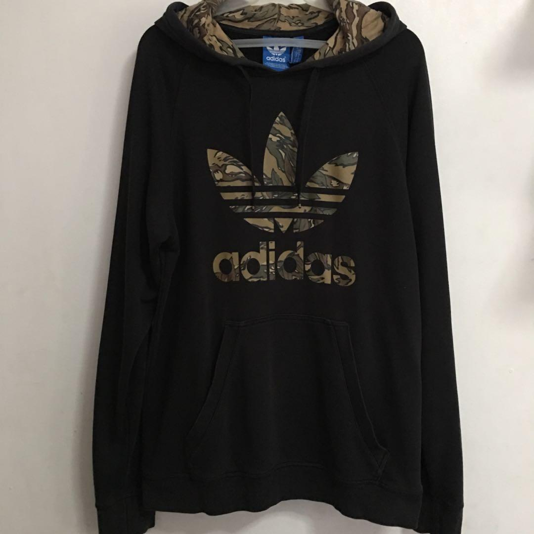 size 40 88593 1a7d2 ADIDAS CITY CAMO TREFOIL PULLOVER HOODIE JACKET on Carousell