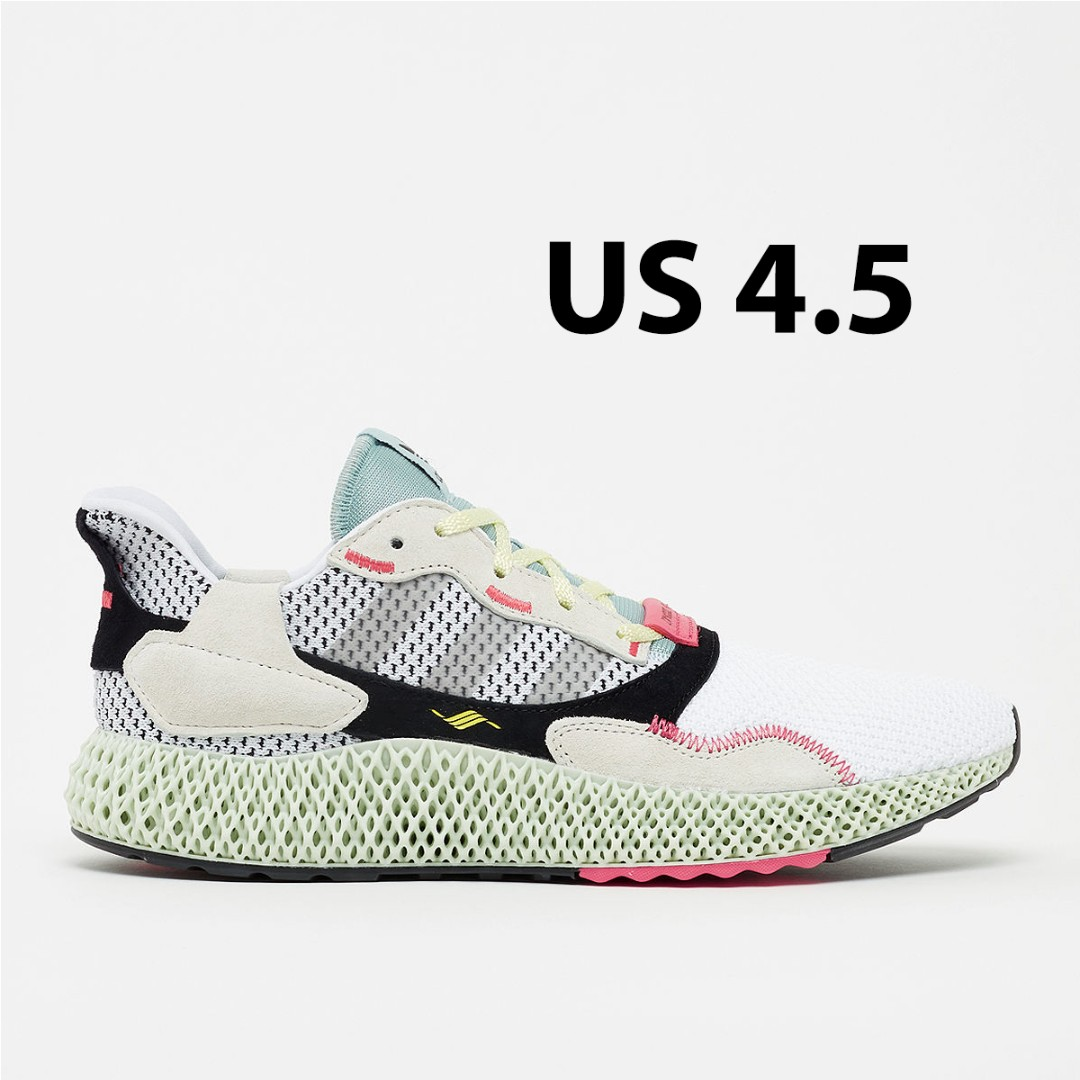 6fabc332 Adidas ZX 4000 Futurecraft 4D Grey One - US 4.5, Men's Fashion, Footwear,  Sneakers on Carousell