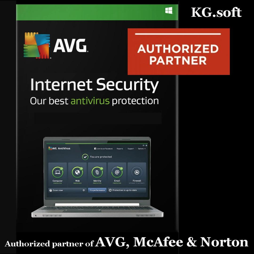 🔥AVG Internet Security 2019 for 1PC or 3PCs 1-year