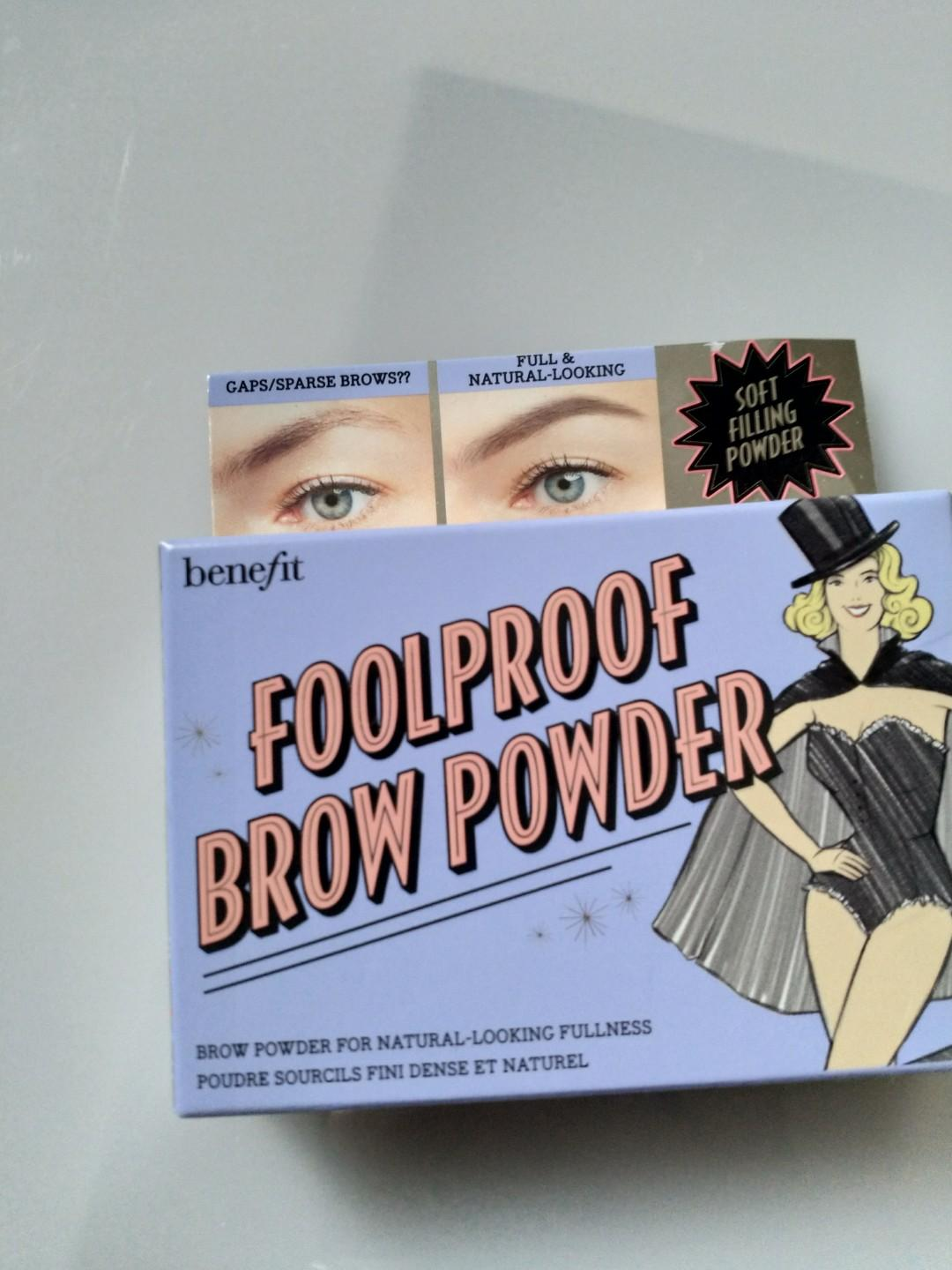 Brow powder and gel