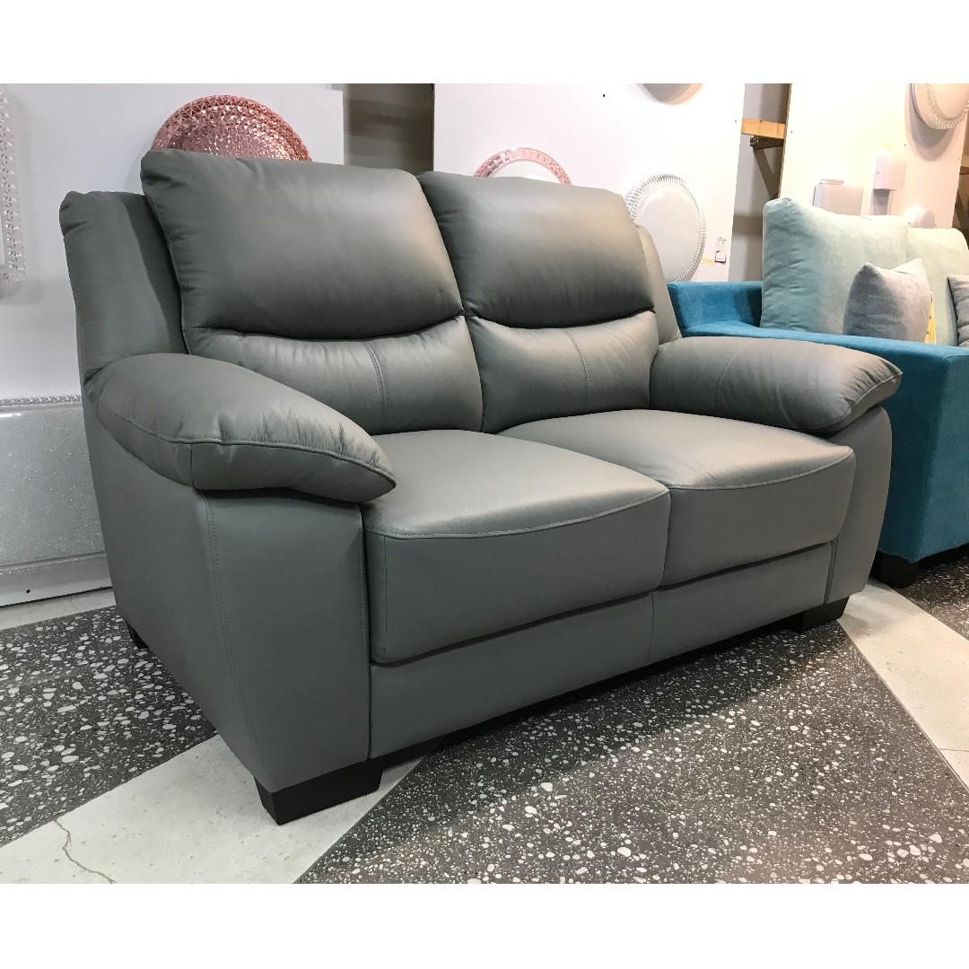 Cowhide Leather 2 Seater Sofa On Carousell