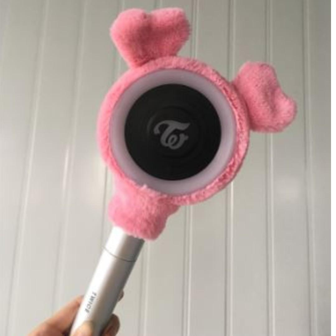 FREE SHIPPING Ready Stock KPOP TWICE CANDY BONG Z Ver.3 Lightstick Cover Cute Pink Light Protective Cover Fan Gift