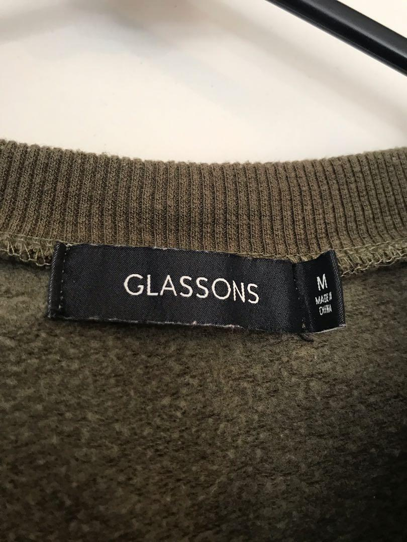 Glassons khaki cropped jumper