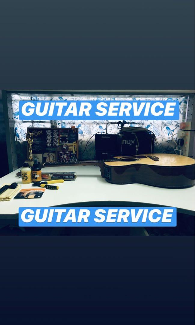 Guitar Setup/Restring/Cleaning/Others